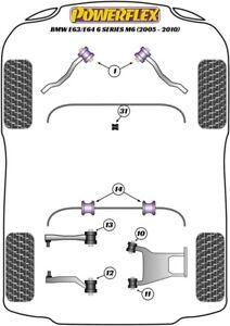 For BMW E63 / E64 6 Series M6, Powerflex Suspension Bush Kit
