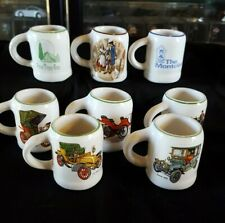 Miniature Pottery Mugs Featuring Vintage Cars & Holiday Souvenirs - Willsgrove
