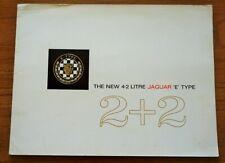 The New Jaguar E Type 4.2 Litre 2+2 Series 1 1966 1967 1968 UK Brochure