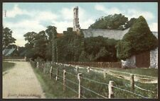 Isle of Wight. Quarr Abbey - Vintage Colour Printed Postcard