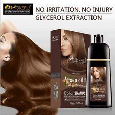 500ml Natural Argan Oil Essence Instant Hair Dye Shampoo Instant Hair Color