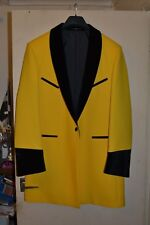 TEDDY BOY DRAPE JACKET, BRIGHT YELLOW, ROCK N ROLL, SHOWADDYWADDY,STAGE QUALITY.