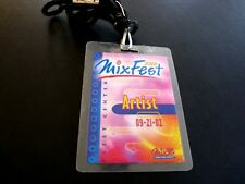 Def Leppard Mixfest 2002 Band Tour Issued Used Backstage Pass Laminate