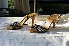 Coach sandals heels black sz 10B