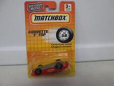 Matchbox Moving Parts Corvette T Top MB58 - Packaged upside down