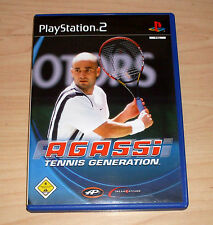 Playstation 2 Spiel - Agassi - Tennis Generation - PS2 Game - ( Andre Sport )