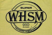 S * thin vtg 70s WHSM 910 am radio t shirt HAYWARD WISCONSIN * 56.95