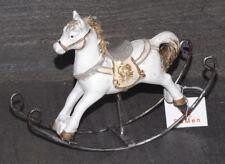 caballo de Mecedora dekopferd Figura Decorativa Decoración Hierro Poliresina 12