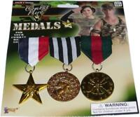 Combat Hero Medals Military Army Award Fancy Dress Halloween Costume Accessory