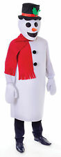 WHITE FUNNY #SNOWMAN COSTUME OUTFIT CHRISTMAS FANCY DRESS ADULT ONE SIZE