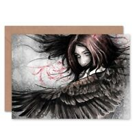 Fantasy Female Angel Painting Blank Greeting Card With Envelope