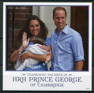 Tanzania 2013 MNH Prince George Royal Baby William & Kate 1v S/S Royalty Stamps