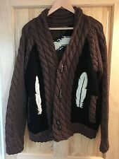 Vintage Maharishi cardigan/suéter.. (Cosby, 80s, 90s, hip hop, rara, Coogi)