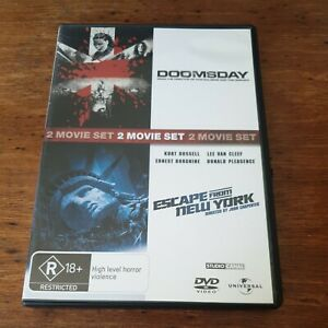 Doomsday + Escape From New York  Double DVD R4 Like New! FREE POST