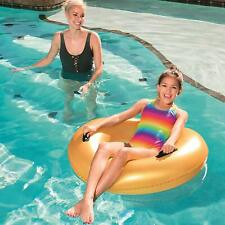 Bestway GOLD Inflatable Rubber Swim Ring Float,  36 Inch 2377