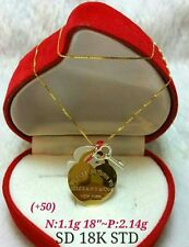 GoldNMore: 18K Gold Necklace & Pendant 18 inches 3.24G