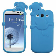 For Samsung Galaxy III 3 Rubber SILICONE Skin Gel Case Phone Cover Baby Blue Dog