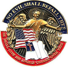 "No Evil Shall Befall Thee - 1"" Spiritual Lapel Pin 77032"