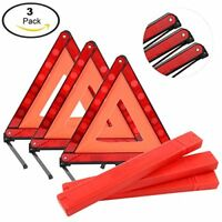 Foldable&Reflective Early Warning Road Safety Triangle Kit  3 Pack Warning Sign
