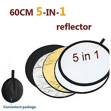 60cm 5 in 1 Collapsible Photography Round Camera Multi Photo Reflector Disc New