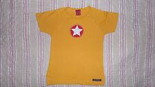 tee shirt  haut jaune manche  courte  VILLERVALLA 5 ans 110 cm motif étoile