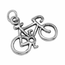 Sterling Silver Bicycle Charm Push Bike Cycle Charms