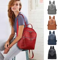 2018 New Women's Backpack Travel PU Leather Handbag Rucksack Shoulder School Bag