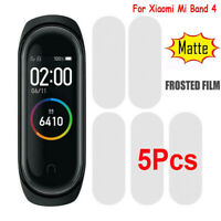 5x For Xiaomi Mi Band 4 Clear Frosted Tempered Glass Full Screen Protector Film