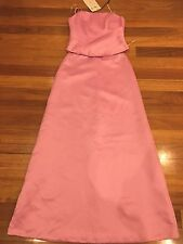 PACO 2 Piece Formal dress Size 10 Pink New With Tag BNWT Formal Wedding Rrp $380