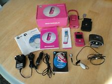 RETRO MOTOROLA Pink RAZR V3 and ACCESSORIES Bundle