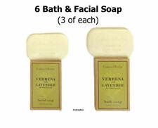 CRABTREE & EVELYN 6 Verbena & Lavender FACIAL and BATH Soap (3 of each)