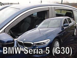HEKO TINTED WIND DEFLECTORS for BMW SERIE 5 G30 4 DOOR 2017-up 4pc