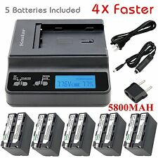Kastar F770 Battery&Ultra Fast Charger(4X faster) for Sony DCR-TRV820, CCD-SC55