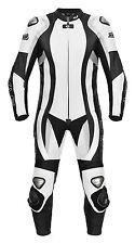Cuero combinado onesie XLS negro blanco de sola pieza GR 46 48 50 52 54 56 58 60 62
