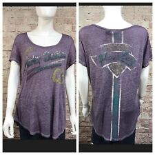 Harley Davidson Purple Embellished T-Shirt Women's  XL