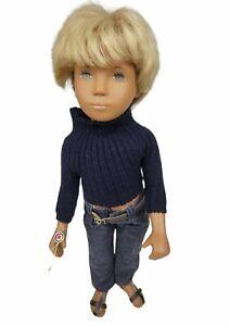 "Vintage Sasha GREGOR 16"" Blonde Doll,  Dark Denims - No Box - England"
