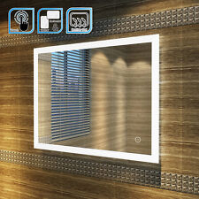 900x700mm Illuminated LED Bathroom Mirror | IP44 | DEMISTER | SENSOR TOUCH