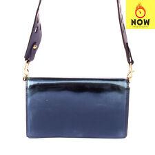 RRP €235 DIANE VON FURSTENBERG Leather Clutch Bag HANDCRAFTED Magnetic Flap