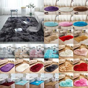 Large Rug Plush Fluffy Rugs Shaggy Area Living Room Floor Carpet Runner Mats
