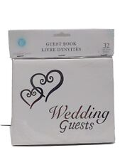 Linked Hearts Wedding Guest Book Silver by Victoria Lynn White