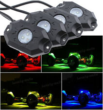 4pc ATV UTV Quad Offroad Rock Led UnderGlow Neon Lighting Kit Bluetooth A