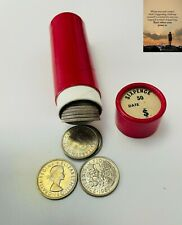 More details for 1967 queen elizabeth sixpence roll unc x 50 coins in original mint red tube. nus