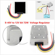 DC Voltage Stabilizer 8-40V to 12V 6A 72W Power Converter Regulator Waterproof