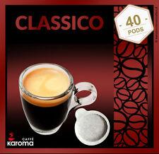 40 Italian Espresso Pods ESE. Karoma (Napoletano) Strong Blend. Dark Roast 08/18