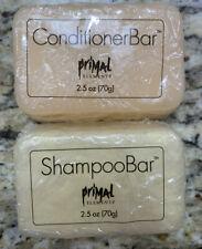 Primal Elements Shampoo Conditioner Set 2.5 Bar Honey Almond Camping Eco