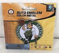 NBA Boston Celtics Auto Emblem Color Metal Officially Licensed Peel and Stick