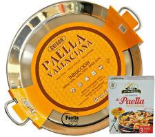 Induction Paella Pan 28cm - 50cm Vitroceramic Stainless Steel Paella Pan + GIFT