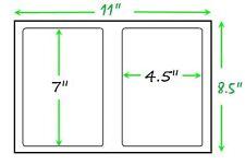 300 Self Adhesive Shipping Labels Round Corners Half Sheet 7.0 X 4.5 USPS UPS