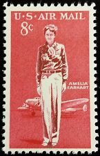1963 8c Amelia Earhart, American Aviation Pioneer Scott C68 Mint F/VF NH