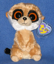 """Ty Beanie Boos Boo'S - Rebel the Meerkat - Mint with Mint Tags 6"""""""